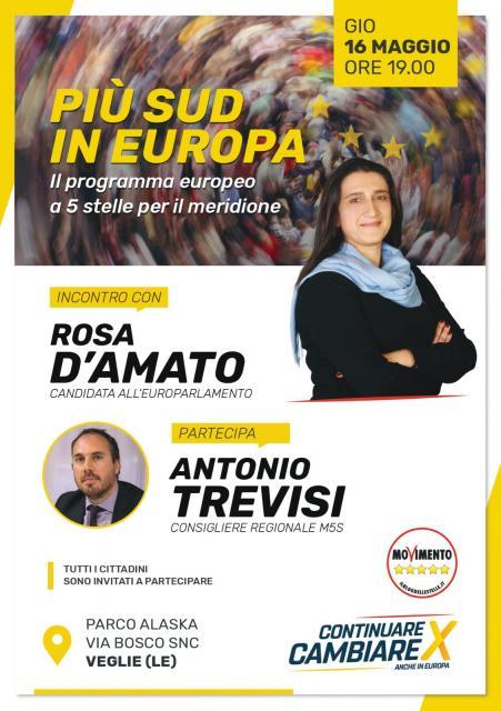 Incontro con Rosa D'Amato - Europarlamentare M5S